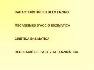 CINÈTICA ENZIMÀTICA