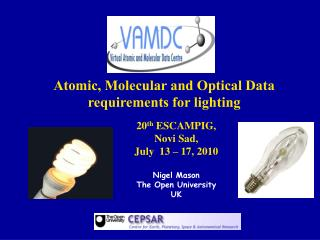 Atomic, Molecular and Optical Data requirements for lighting