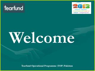 Tearfund Operational Programme (TOP) Pakistan