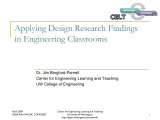 Applying Design Research Findings in Engineering Classrooms
