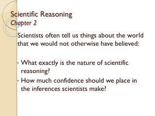 Scientific Reasoning Chapter 2
