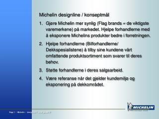 Michelin designline / konseptmål