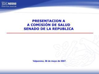 PRESENTACION A A COMISIÓN DE SALUD  SENADO DE LA REPUBLICA