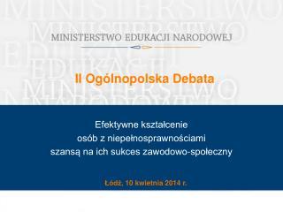 II Ogólnopolska Debata