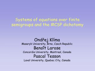 Systems of equations over finite semigroups and the #CSP dichotomy