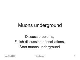 Muons underground