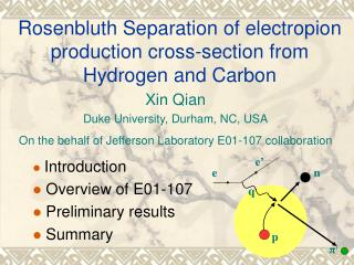 Rosenbluth Separation of electropion production cross-section from Hydrogen and Carbon