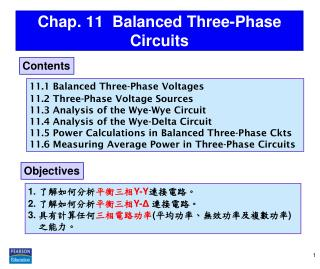 Chap. 11  Balanced Three-Phase Circuits