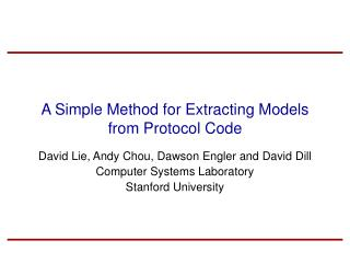 A Simple Method for Extracting Models from Protocol Code
