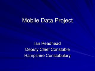 Mobile Data Project