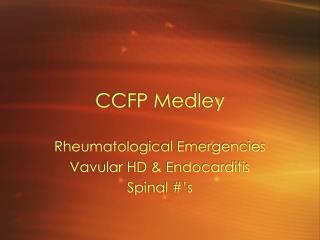 CCFP Medley