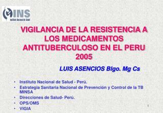 Instituto Nacional de Salud - Perú.