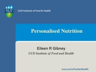 Personalised Nutrition