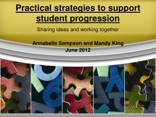 Practical strategies to support student progression