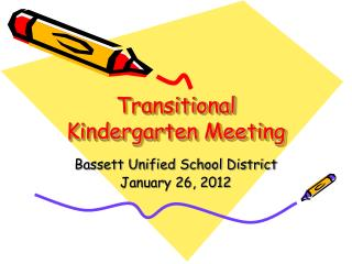 Transitional Kindergarten Meeting