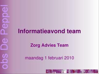 Informatieavond team