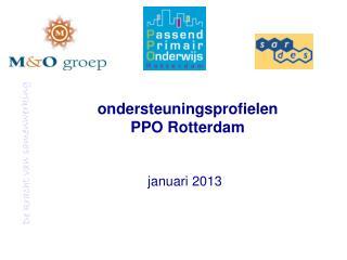 ondersteuningsprofielen PPO Rotterdam
