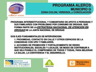 ALEROS CUMPLE FUNCIONES EN:
