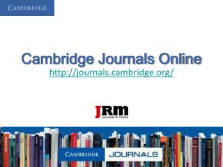 Cambridge Journals Online journalsmbridge/