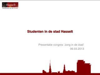 Studenten in de stad Hasselt