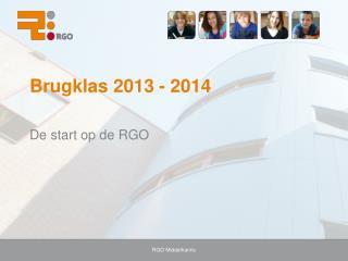 Brugklas 2013 - 2014