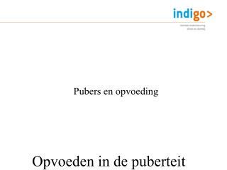 Opvoeden in de puberteit