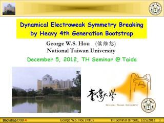 Dynamical Electroweak Symmetry Breaking  by Heavy 4th Generation Bootstrap