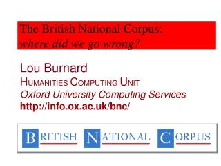 The British National Corpus: where did we go wrong?