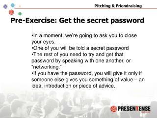 Pre-Exercise: Get the secret password