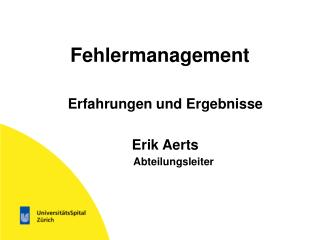 Fehlermanagement