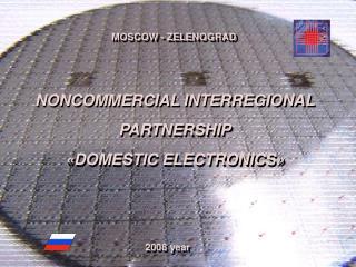NONCOMMERCIAL INTERREGIONAL PARTNERSHIP « DOMESTIC ELECTRONICS »