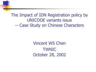 CJK (Han) Characters in UNICODE