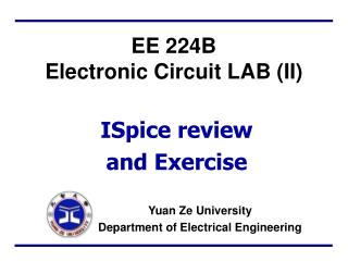EE 224B  Electronic Circuit LAB (II)