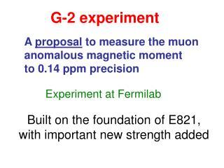 G-2 experiment