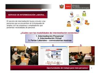 Oportunidades de trabajo para más peruanos