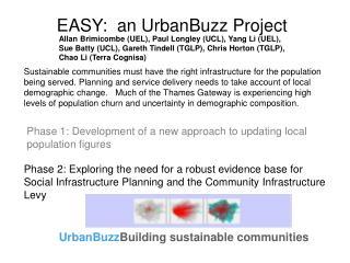 EASY:  an UrbanBuzz Project
