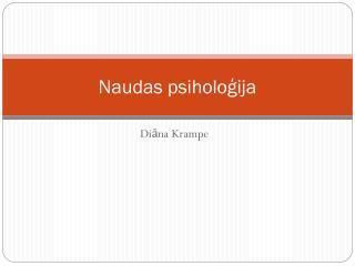 Naudas psiholoģija