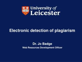 Electronic detection of plagiarism