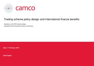 Trading scheme policy design and international finance benefits