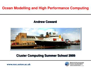 Ocean Modelling and High Performance Computing