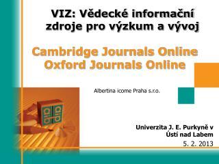 VIZ: Vědecké informační zdroje pro výzkum a vývoj