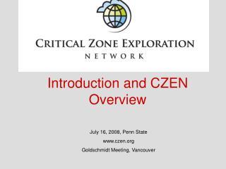 July 16, 2008, Penn State czen Goldschmidt Meeting, Vancouver