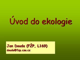 �vod do ekologie