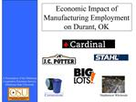 Economic Impact of Manufacturing Employment on Durant, OK