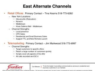 Retail Offices Primary Contact – Tina Kearns 518-773-6282 New York Locations