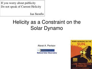 Helicity as a Constraint on the Solar Dynamo