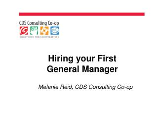 Hiring your First  General Manager