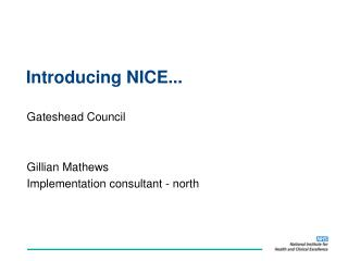 Introducing NICE...