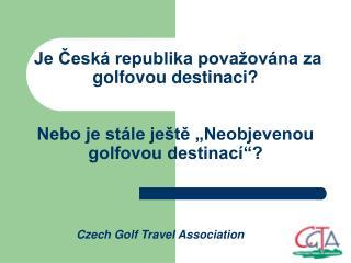 Czech Golf Travel Association