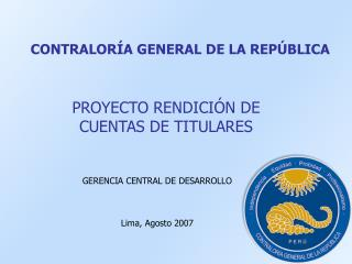 CONTRALOR�A GENERAL DE LA REP�BLICA